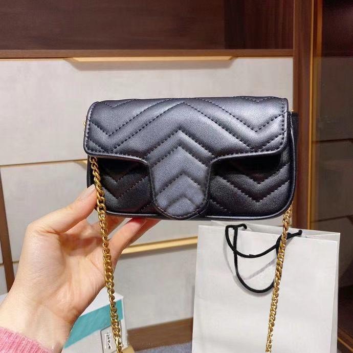 Marmont Handtasche Klassische Taschen Schultertasche Luxus Designer Messenger mit Diamant Gitter Ripple Tasten Kreuzkörpermode