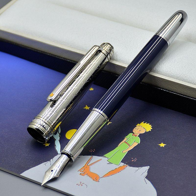 جودة عالية petit الأمير 163 نافورة القلم مكتب القرطاسية 0.7 ملليمتر بنك غير حكي الخط الأقلام للحبر هدية عيد