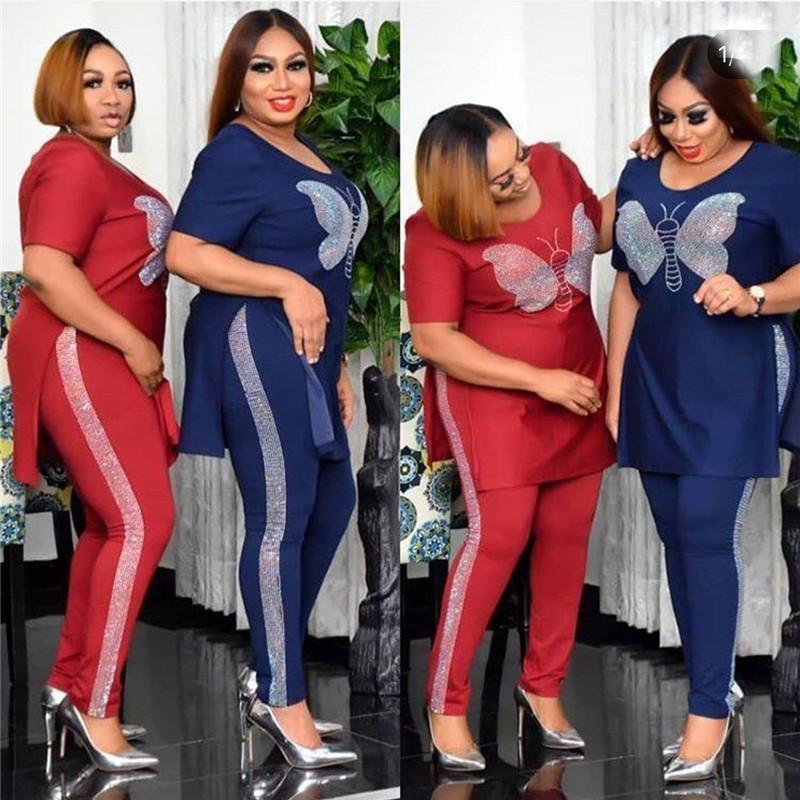 Бархат 2 частей набор женщин африканская одежда осень зима 2020 африканская одежда плюс размер высококачественный костюм африканские платья Y1229