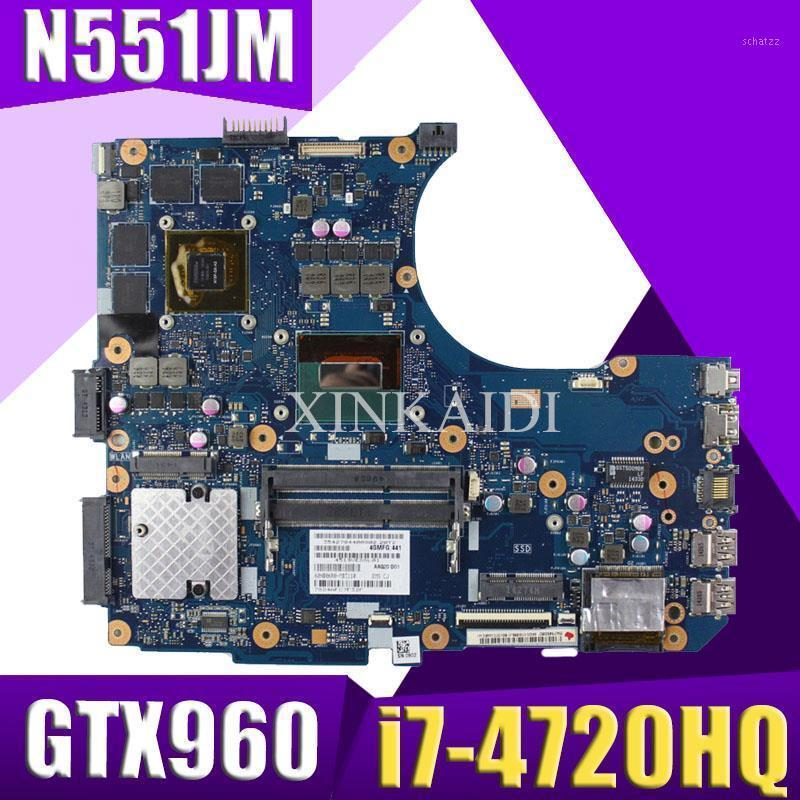 XinKaidi N551JM N551JW For ASUS N551JQ G551JW N551JM Laptop Motherboard -4720HQ CPU PM GTX960 Mainboard TESTED1