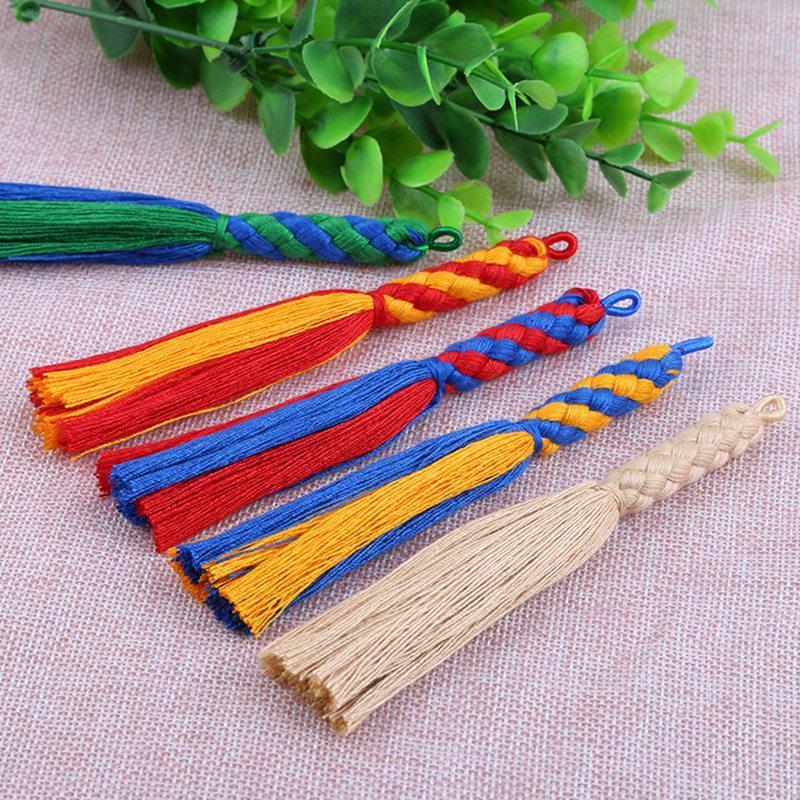 5 pcs cor dupla borla franja diy ornamentos sacos artesanato borlas vestuário de cortina acessórios de costura jóias fazendo pingente h bbyoqk
