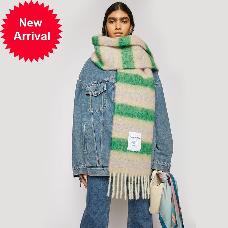 2020 جديد حب الشباب أزياء المرأة soild دوت الطباعة زر لينة التفاف عارضة الدافئة الأوشحة شالات