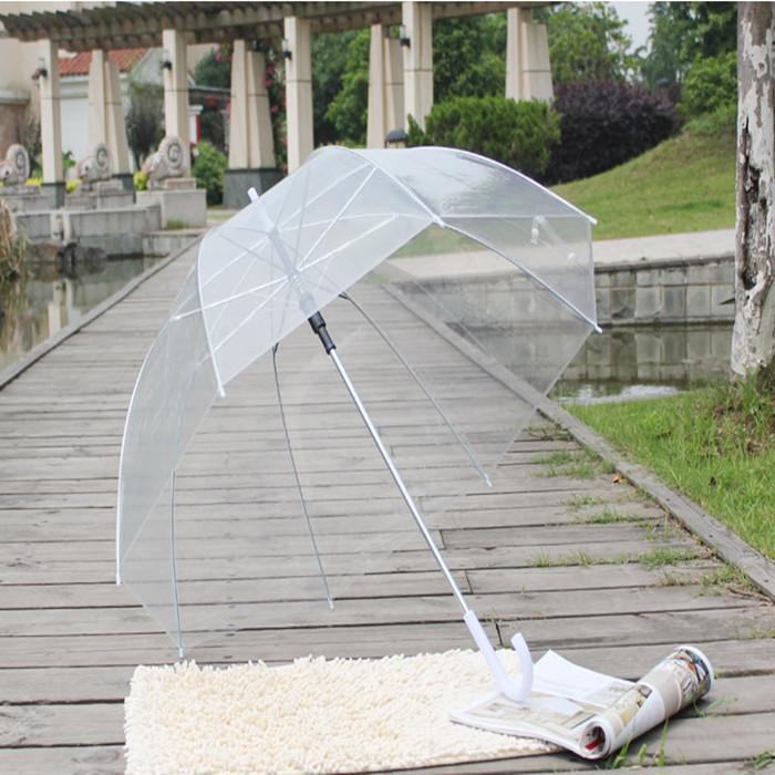 Elegante semplicità bolla profonda cupola profonda ombrello apollo trasparente ombrello ragazza fungo ombrello trasparente bolla spedizione gratuita wq95