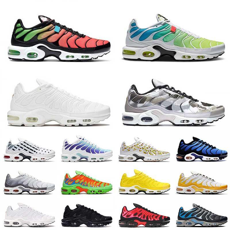 nike air max airmax tn plus Venta caliente 2021 Hombres para mujer TN Plus Tamaño US 12 Running Sport Zapatos Woraldwide Triple Blanco AireMaxZapatillas de deporte de Airmax 36-46