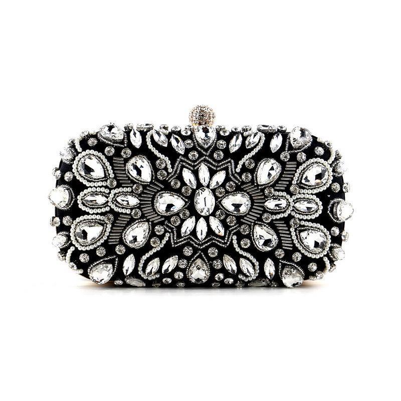 Women Luxurys Designer Bags 2021 Handbag Sparkly Diamond Crystal Clutch Shiny Rhinestone Evening Shoulder Purse for Party