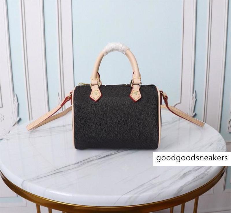 Speedy M61252Shoulder Cadena Designers Bolsas Mini mujer Crossbody Fashion Bag High Bag Nano Monedero Bolsas Calidad Bolsa de lujo con polvo Mjaul