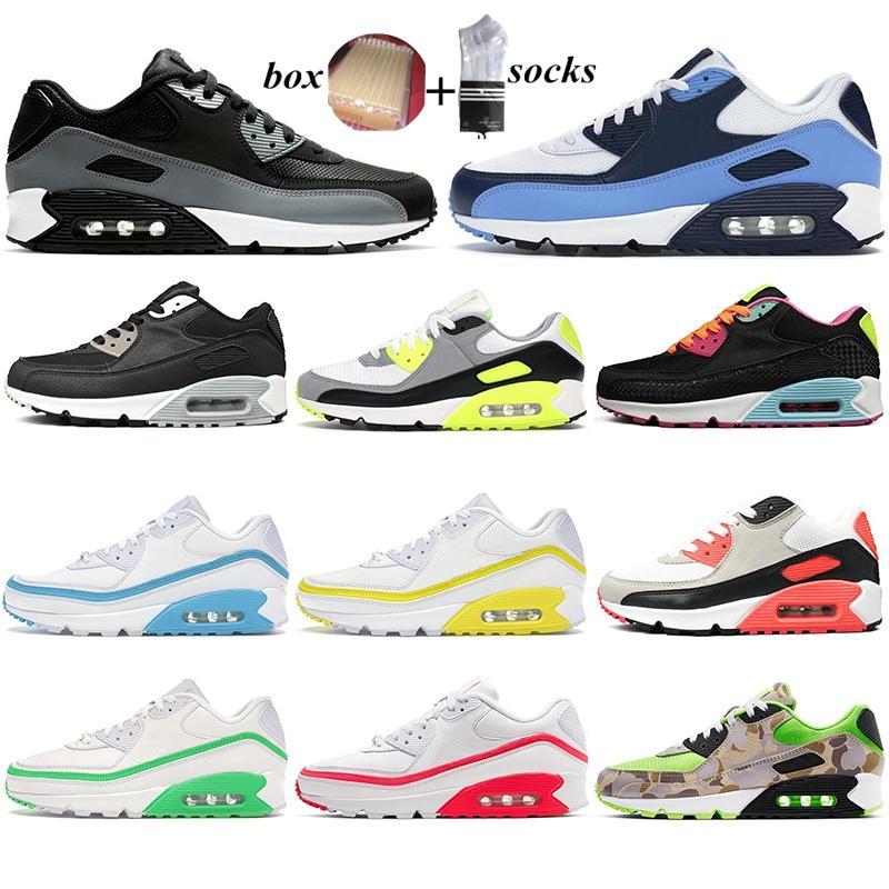Con zapatas de correr para hombres para hombres mujeres UNC triple negro inverso pato camo viotech og chaussure al aire libre entrenador deportes zapatillas de deporte 36-45