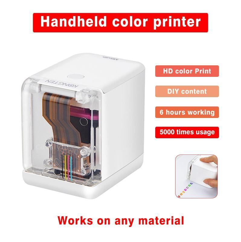 MBRUSH MINI Handheld Полноцветный принтер Портативный Wi-Fi Мобильный Цветный Принтер Портативные и Сменные Чернил Картридж № R45