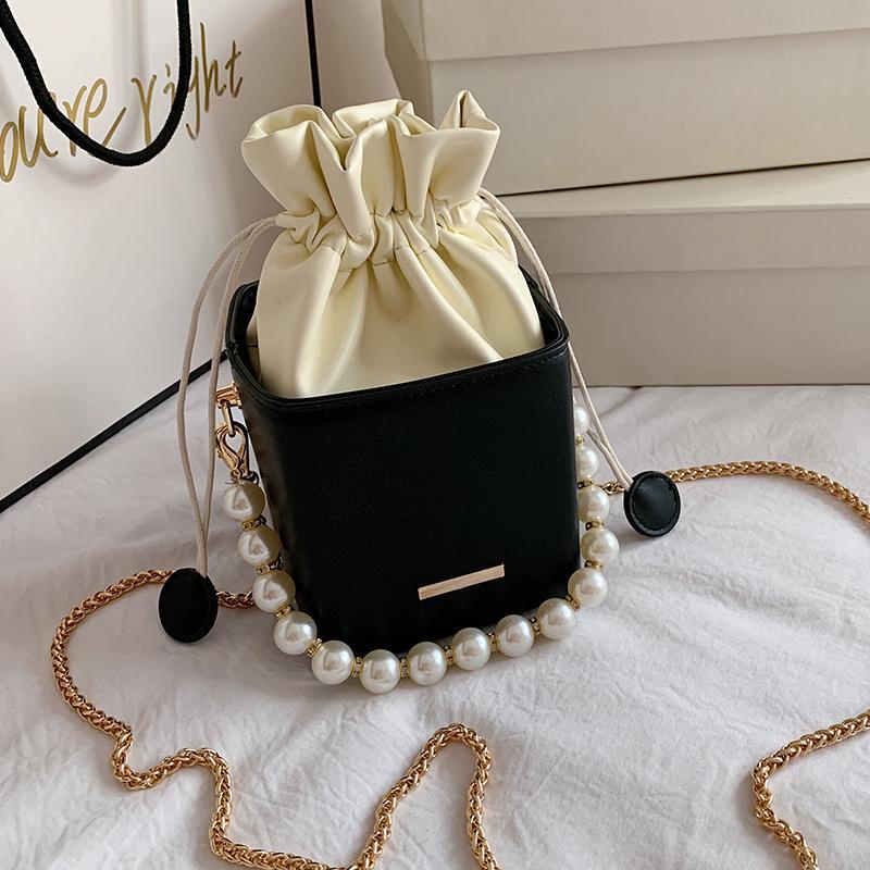 Drawstring Fashion Ladies Bucket Women OLSITTI 2020 Bags Shoulder Shape Bags Small For Women Box Purses Crossbody Handbags Flap PC0Z Hnvcx