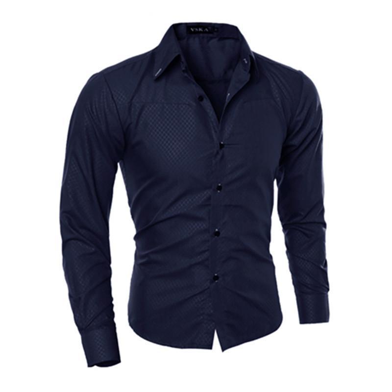 كبيرة الحجم الرجال عارضة القمصان يتأهل طويل الأكمام واحدة الصدر الأزياء عارضة الملابس الرجال القمصان زائد الحجم قمم M-5XL