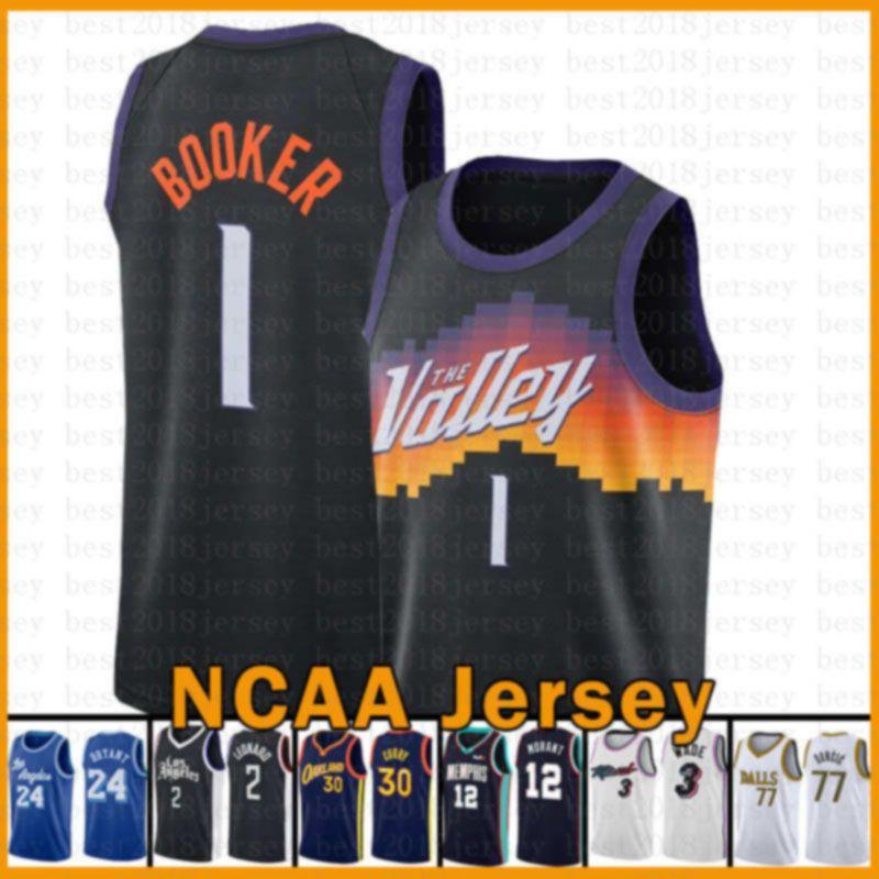 Devin 1 Booker PhoenixSonnen?Neue Basketball-Jersey 2020 2021 Neue Kawhi Zion 1 Williamson 2 Leonard JA 12 Morant Dwyane 3 Wade Doncic