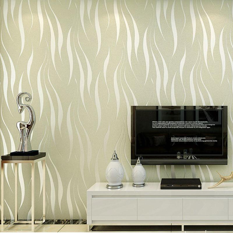 DIY 3D Decoración del hogar extraíble No tejido Agua autoadhesiva Agua ondulada Sala de estar Dormitorio Dormitorio relieve Glitter Regalo Etiqueta de pared