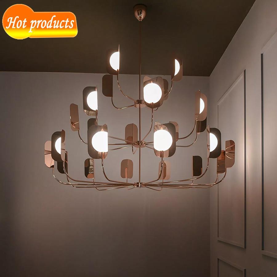 Moderne LED-Designer oben vergoldetem Vorhang 4/12/24 Zweig Ich lag Droplight-kabelgebundene Lichtkörper 7nfn