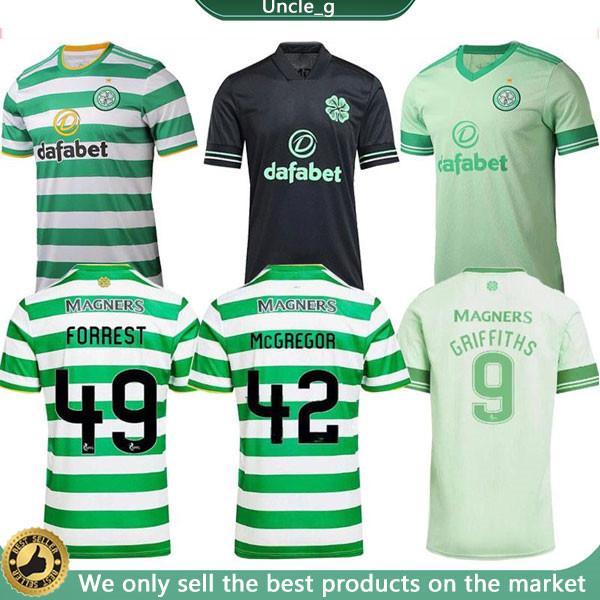 20 21 Celtic Soserys Edouard 2020 2021 Brauner Forrest Christie Football Hemd Griffiths Celtic 3rd McGregor Men + Kids Kit Uniform Home