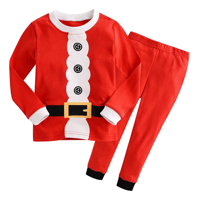 Baby Boys Meninas Papai Noel Outfits Christmas Cosplay Traje Casual Algodão Manga Longa Kids Roupas Suits Children Pajamas Conjuntos