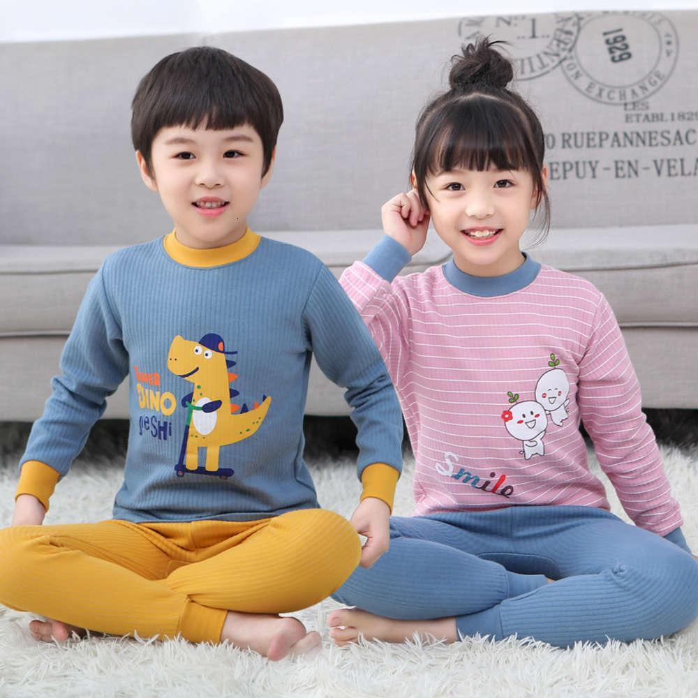 Pyjamas pour enfants des hommes épaissis une combinaison d'automne neuf et féminine d'hiver