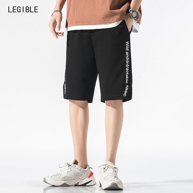 Hommes Hommes lisibles Été Straight Letter Stripe Stripe Home Pant Homme Courts Hommes Marque Vêtements Mens Casual Beach Shorts T200422