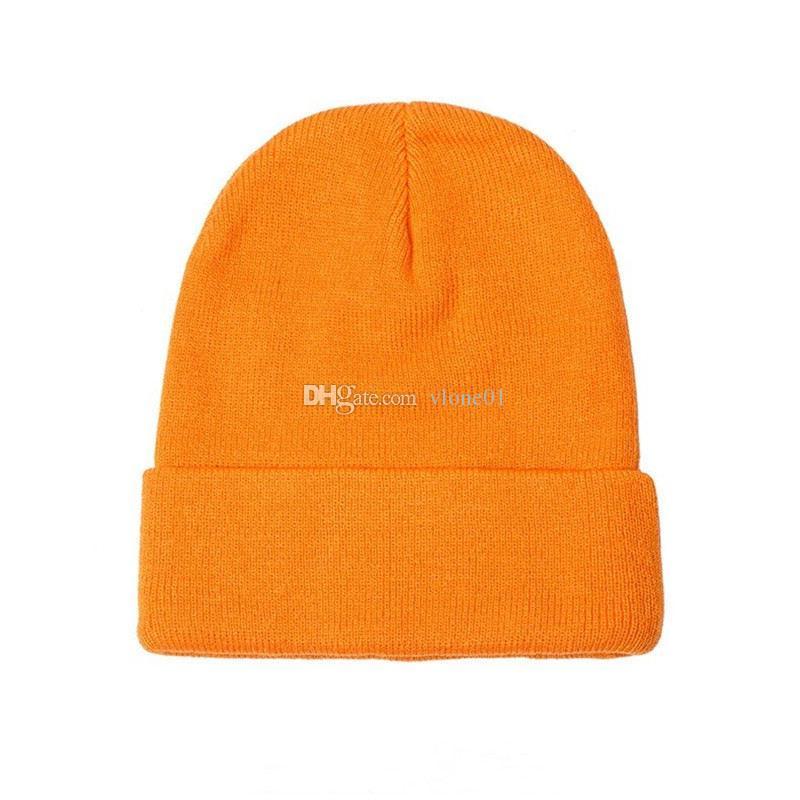 19ss Kış Erkekler Kadın Bonnet Örme Şapka Hip Hop Büyük Nakış Bere Cops Casual Açık Şapka