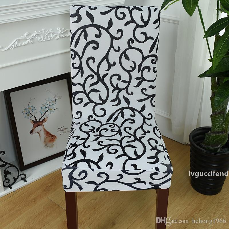 Nuova stampa creativa multi colore retro stampa slipcover mezzo wrap sedia copertura elastica force covers covers hotel cerimonia di nozze ornamenti 8 5WL