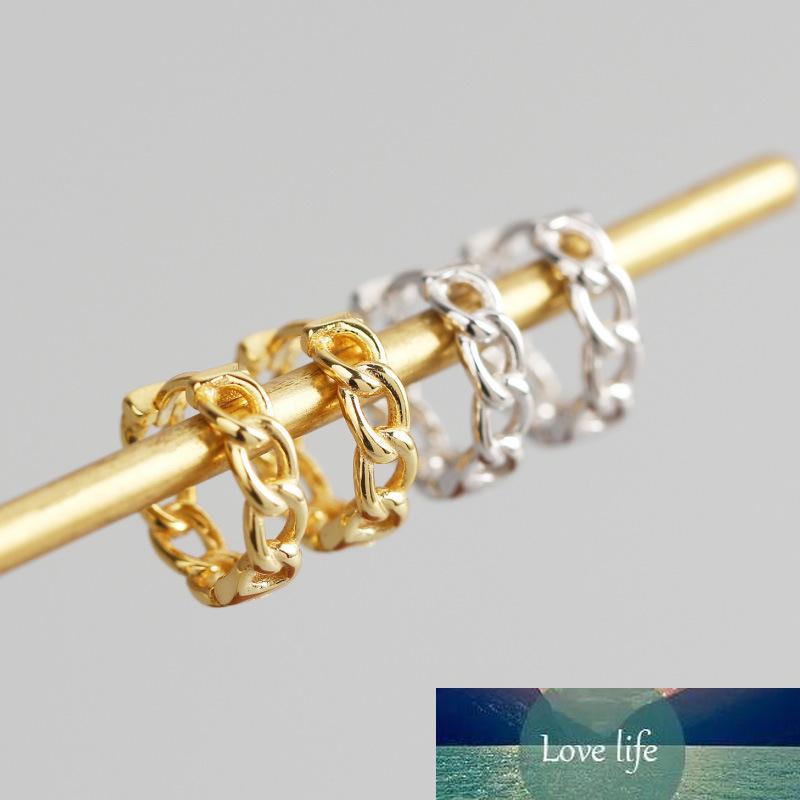 Nueva distorsión Interveanza Twist Metal Circle Geométrico Round Hoop Pendientes para las mujeres Girls Party Jewelry Accesorios