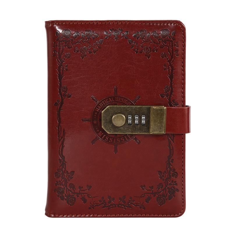 A5 Pu Leather Diary With Lock Planner Password Retro Notebooks And Journals Agenda Note Book For School Notebooks Supplies