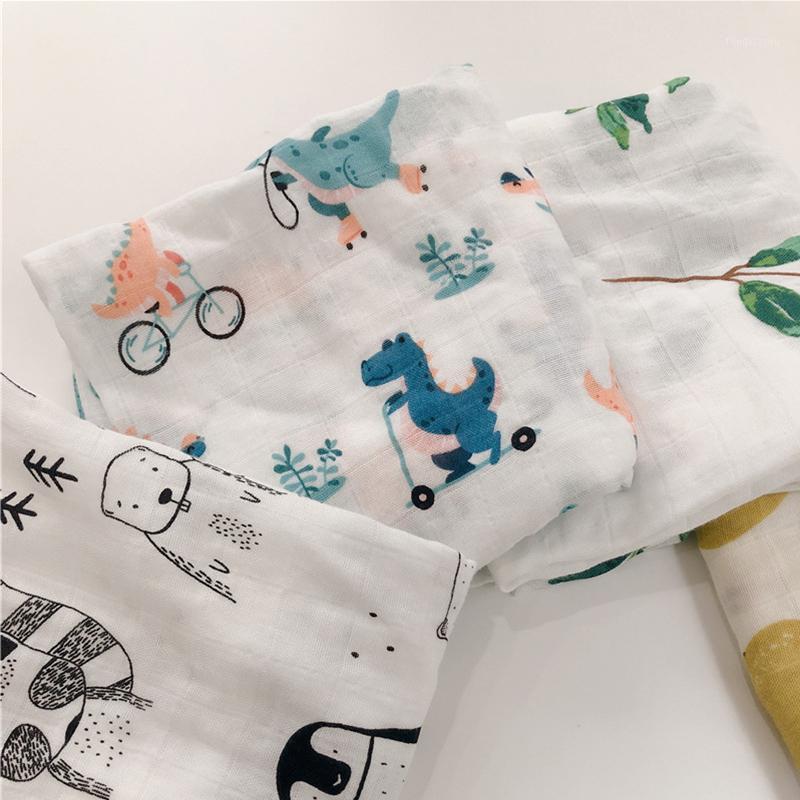 Coberturas de bebê de algodão de bambu recém-nascido macio macio cobertor Muslin Swaddle envoltório alimentação de pano toalha de pano cachecol stuff 60 * 60 cm1