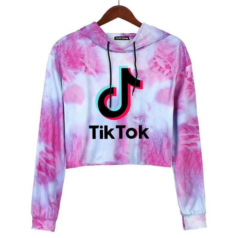 Tiktok Sweat-shirt Pour Femmes Girl Vêtements Tik Tok Automne Hiver Hiver Capuche à capuche SPOWERS SPORT SPORT Vêtements 69