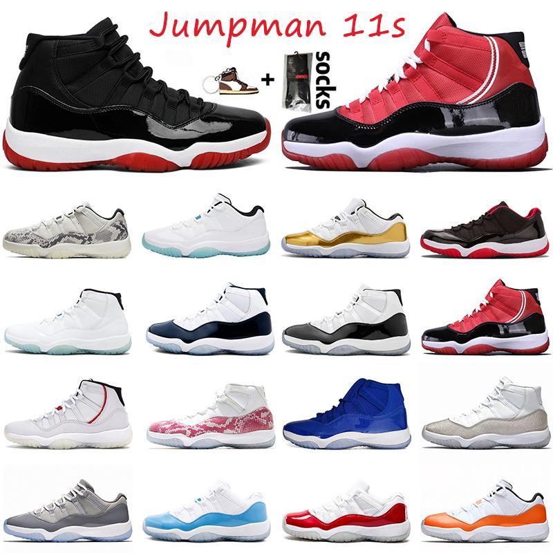 25 aniversario 11 zapatos de baloncesto para mujer masculino criado bajo Concord Unc 11S Gamma Blue Satin \ R \ R Legend Blue Sport Sneakers