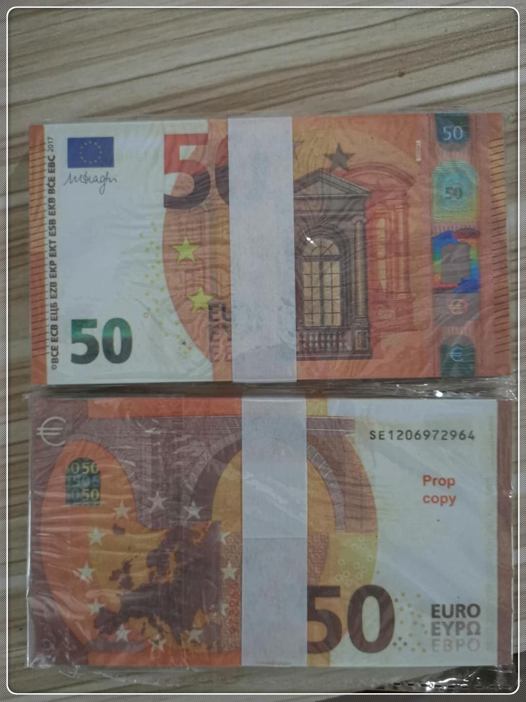 Chaud CNSSH Copie Jouet Party Banknote MV Prop Prop Prop Prop Propulsion 50 Atmosphère Bar Le50-10 Scène de scène contrefaite EURO SUTUF