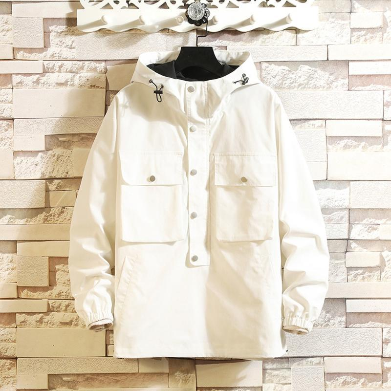 JAYCOSIN Men's casual fashion patchwork pullover hoodie multi-pocket jacket M-5XL men's zipper jacket new listing 2020