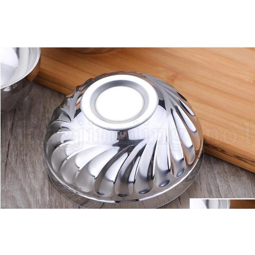 Double Layer Stainless Steel Rice Bowl 12cm 14cm 16cm 18cm Heat Insulation Anti Scald Bowl Kitchen Nood jllKST bdefight