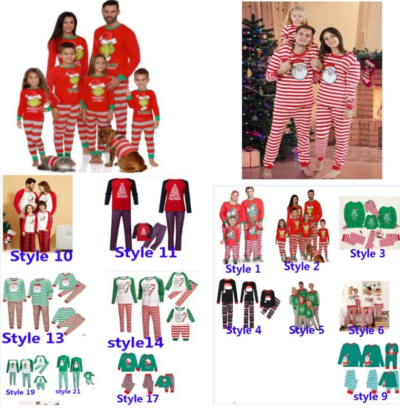Noël enfants garçon garçon filles famille adulte assortie de cerf de Noël pyjamas pajamas de nuit vêtements de nuit pyjamas parent-enfant pyjamas partie HH9-3304