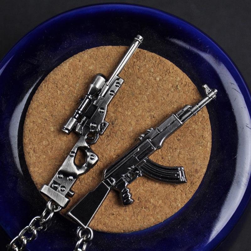 Jeu en ligne autour de la ligne de feu AK47 pistolet d'armes, pistolet sous-machache, pistolet Sniper FC Mini modèle, pendentif de voiture