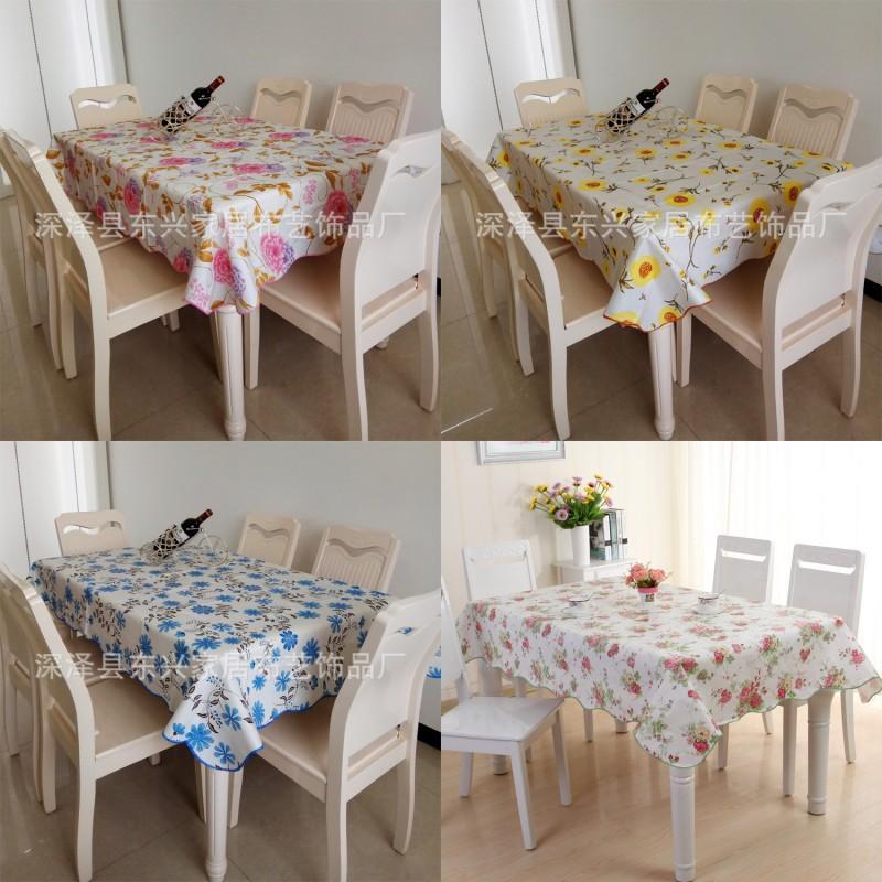 격자 꽃 인쇄 식탁보 가정 용품 원형 직사각형 PVC 플라스틱 유압 차 테이블 천으로 여러 가지 빛깔의 뜨거운 판매 11dx J2