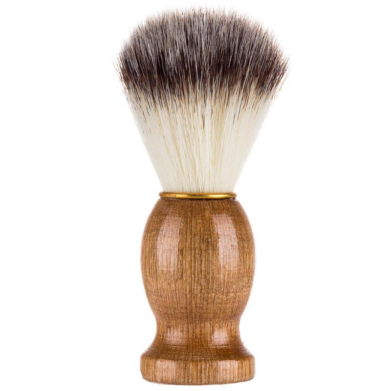 الحلاق الحلاقة الحلاقة الحلاقة فرش الخشب الطبيعي مقبض اللحية فرشاة للرجال أفضل هدية الحلاقة أداة الرجال هدية الحلاقة أداة رجل العرض EEA2217