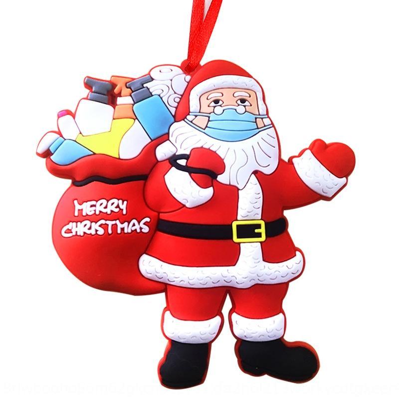 7 M7F 2020 Noel Ağacı Asılı Süs Maskesi El Dezenfektanı Santa R3505 Noel Aile Üyeleri Karantina Kolye Noel Süslemeleri