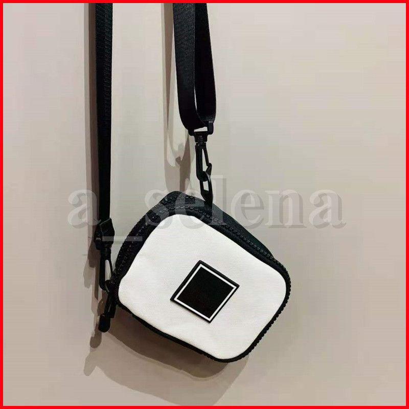 الأزياء الهاتف الخليوي الرياضة مستحضرات التجميل حقيبة الصليب أكياس الشفاه عملة السفر ماكياج حقيبة التخزين أسود أبيض