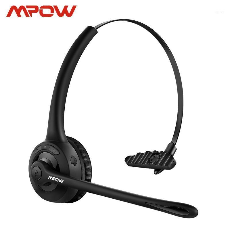 Cuffie MPOW Pro Aggiornato MBH15 Over Head Wireless Auricolare Bluetooth con microfono per il driver camionista Call Center Cell Phone 1