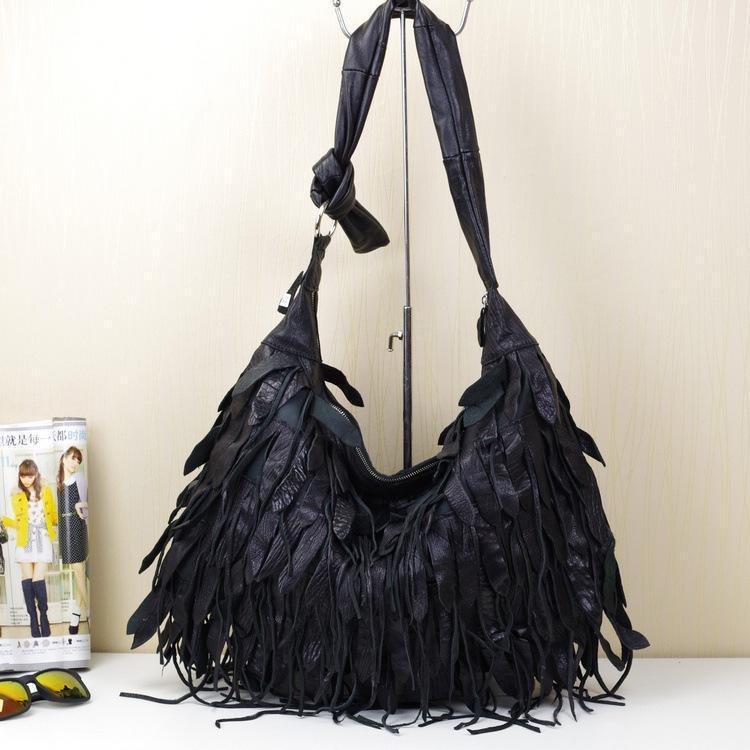 High Black Tasselstyles Ladies de couro RCMTC sacos casuais bolsas genuína qualidade de couro real faixa de couro jpfnj