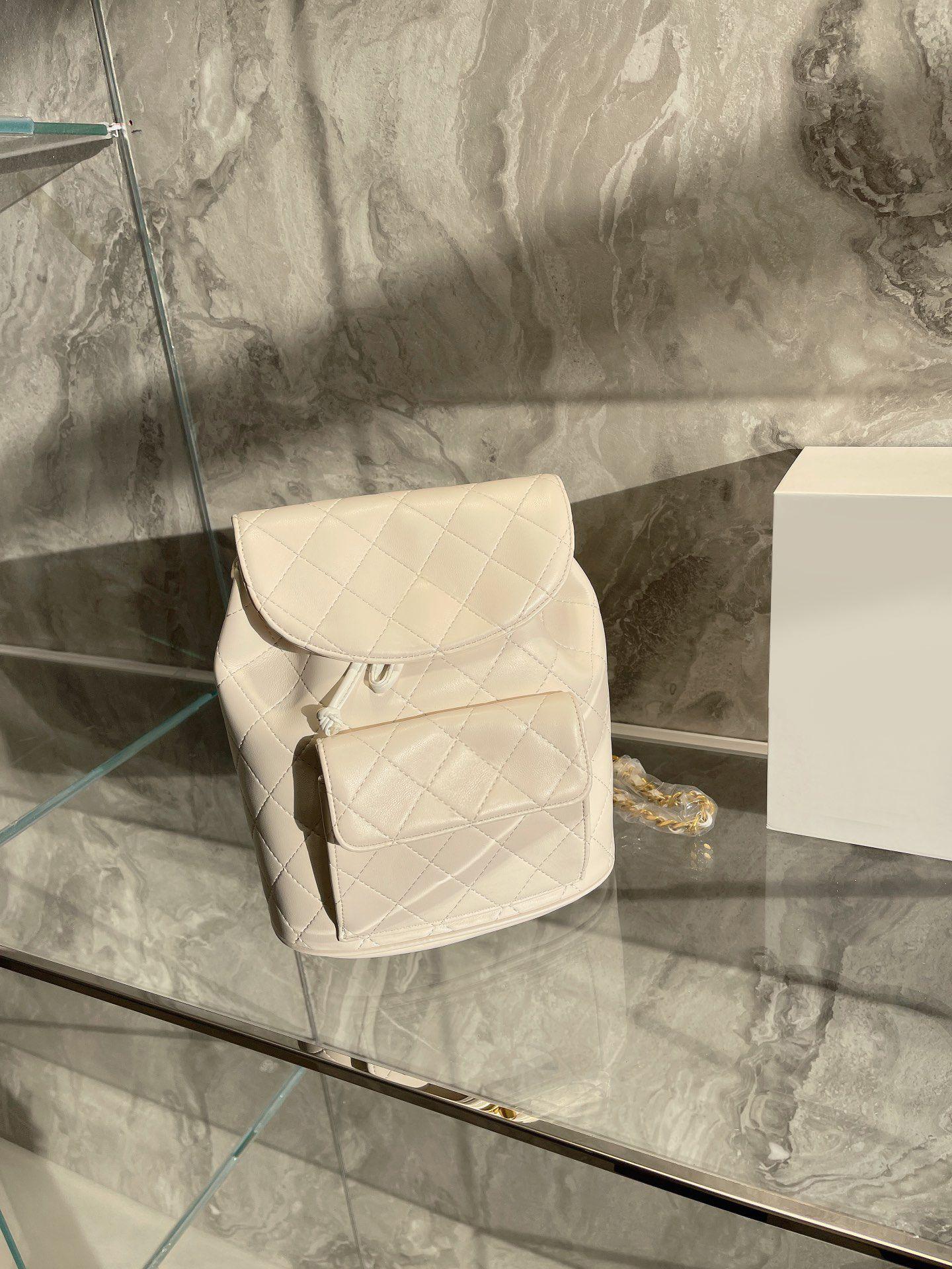 최고 품질의 백팩 가방 여성 디자이너 럭셔리 숙 녀 정품 가죽 학교 배낭 클래식 브랜드 지갑 도매 가격 일치 상자 크기 : 26 * 20cm