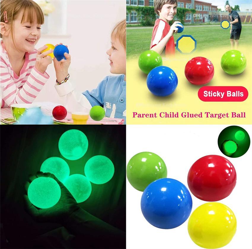Boulettes de plafond lumineuses Bulle Stress Soulagement Boule collée Boule de décompression cible Boule de décompétration Lentement Squishy Glow Toys enfants Adultes E121101