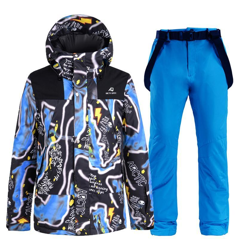 Skiing Suits High Quality Ski Suit Men Outdoor Sport Warm Windproof Snowboard Cold Proof Waterproof Fashionable Color