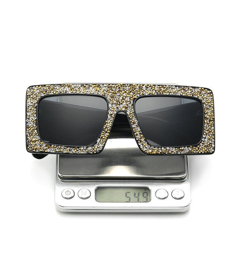 2020 Luxus-Diamant-Frauen-Sonnenbrille-Marken-Entwerfer-Maxi-Sterne Strass Sonnegläser Unisex Gradient für Männer UV400 FML