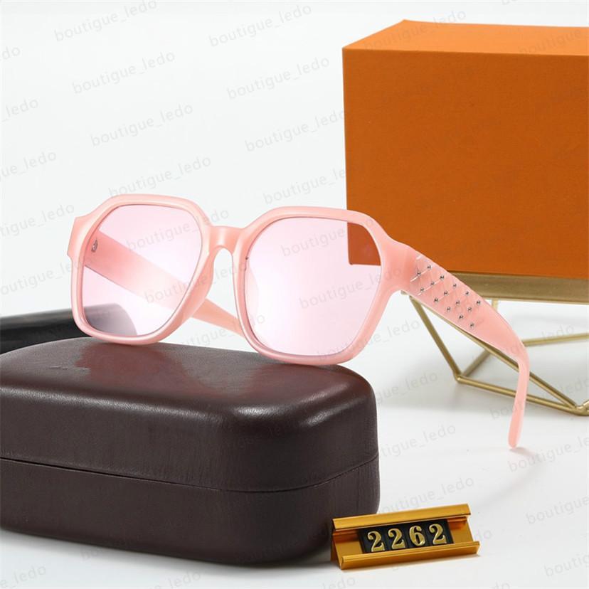 Moda Yeni Stil Bayanlar Tasarımcı Gözlük Tam 2262 S En Güneş Gözlüğü Kalite Kentsel Moda Çerçeve UV400 Yüksek Kalite Güneş Gözlüğü Bayanlar TRLWX