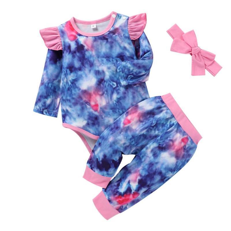 Roupas de bebê conjunto Soild Kids Headband Romper Calças Bebê Menino Jumper Infantil Outfits Inverno Mola Recém-nascido Macacão