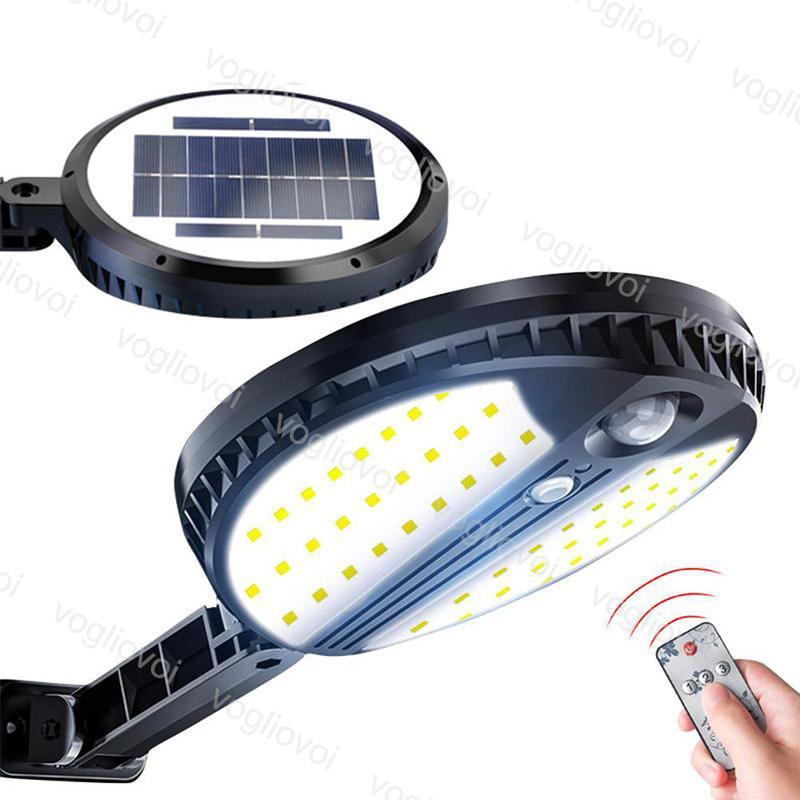 Sensor de movimento de iluminação de segurança solar 70led 3 modelo com controlador à prova d'água da rodada para o jardim ao ar livre Wall Street DHL