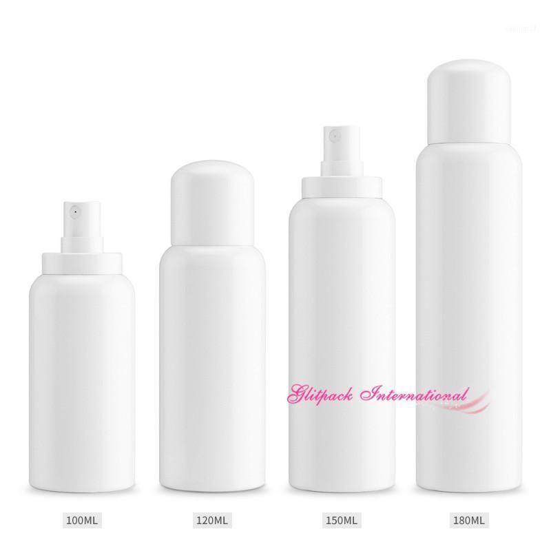 30pcs 120ml 150ml 180 ml de bouteilles de luxe de luxe liquide 100 ml de bouteille de pulvérisation de plastique de grand blanc vapeur de parfum vides de pulvérisation de pulvérisation