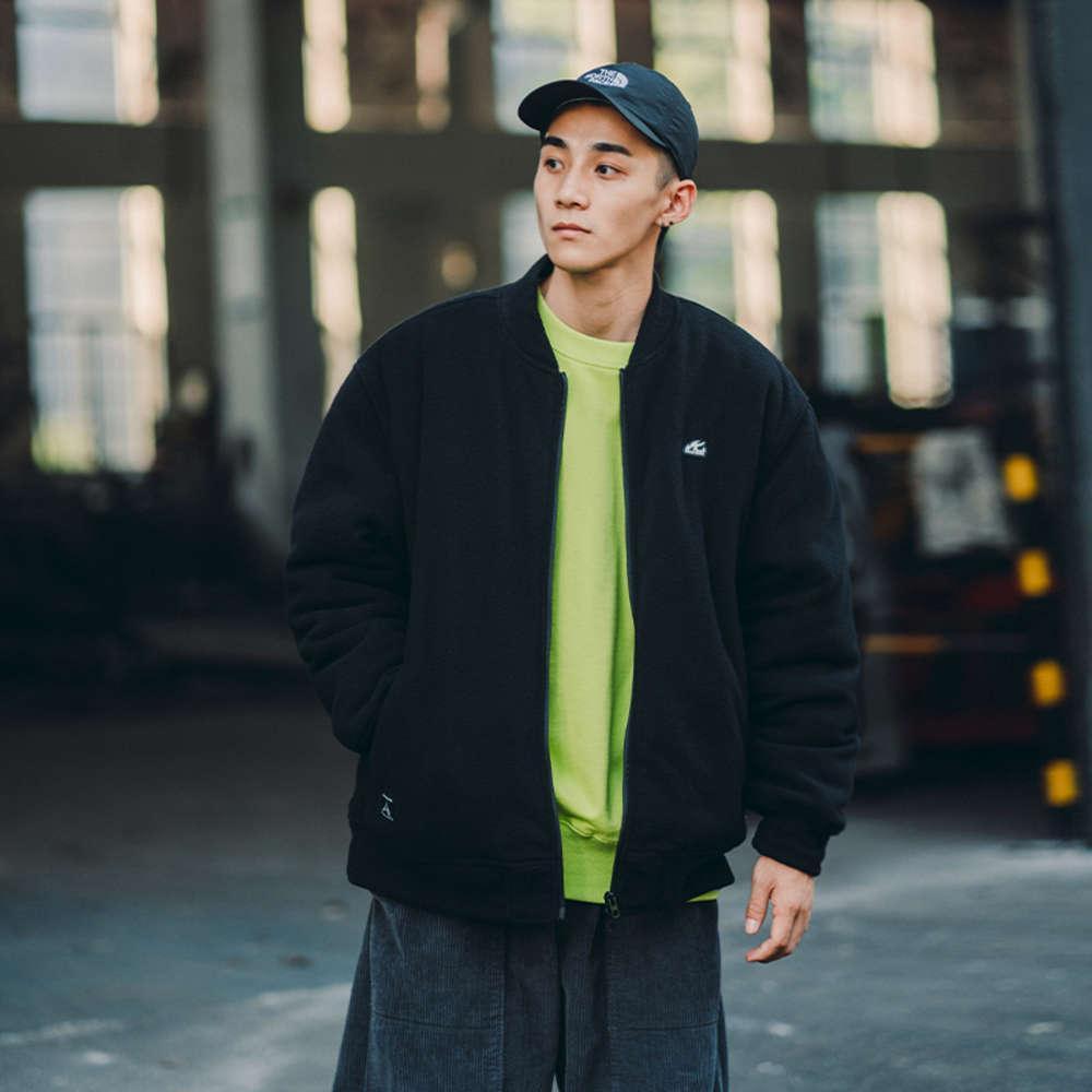 BDCT masculino outono inverno solto lã beisebol jaqueta de algodão moda marca