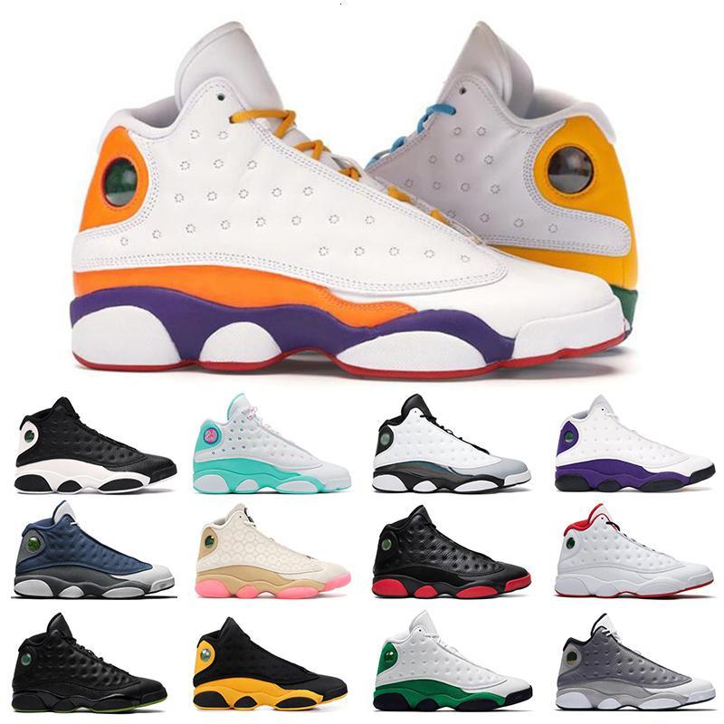 Hot 13 13s Jumpman Zapatos al aire libre Playground Chinese Año Nuevo Isla Isla Verde Barones Corte Púrpura Mens entrenadores Deportes Zapatillas de deporte 36-47