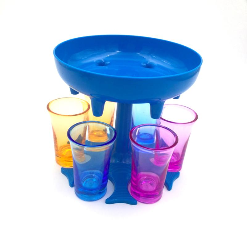 6 atış cam dağıtıcı ve holde şarap bölücü bira içecek dağıtıcı atış buddys likör distribütörü yemek çubuğu drinkware ücretsiz kargo